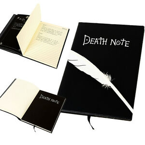 death note cosplay notebook federn stift buch japan. Black Bedroom Furniture Sets. Home Design Ideas