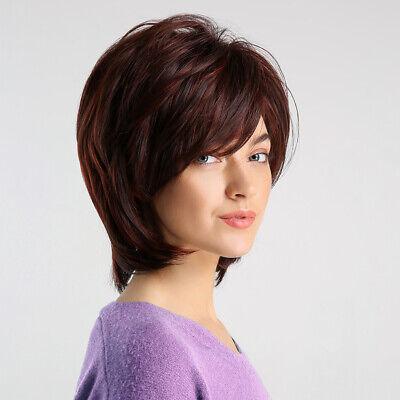 high temperature seide kunstfaser rot mixed farbe klassisch kurz haar per cken ebay