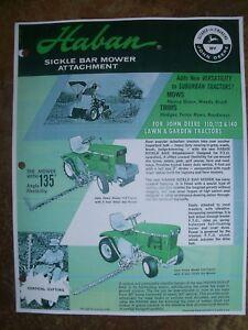 Details about JOHN DEERE 110,112,140 Lawn/ Garden Tractor HABAN Sickle Bar  Mower Advertisement
