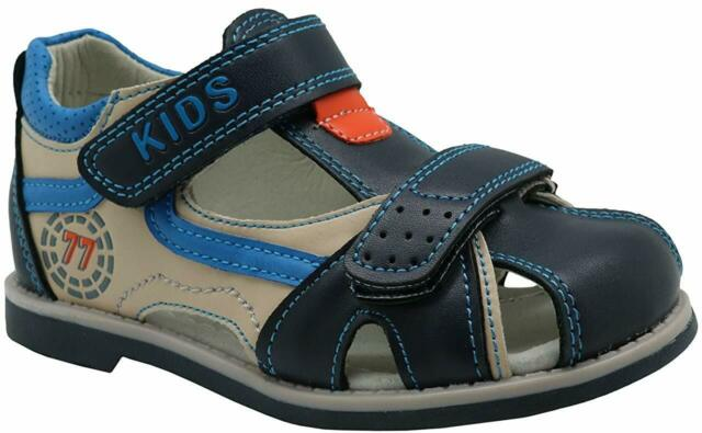 Apakowa Kids Boys Summer Outdoor Athletic Double Strap Closed-Toe Beach Sandals Sport Toddler//Little Kid