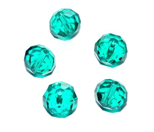 5pcs big sparkly malchite crystal beads 14x11mm