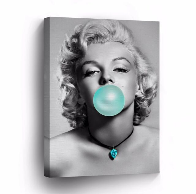 Marilyn Monroe Chewing Gum Black and White Canvas Photo Wall Art ...