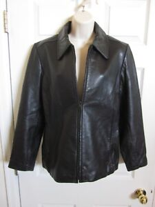 Mossimo-Leather-Jacket-Coat-w-Liner-Women-039-s-Size-M-Black