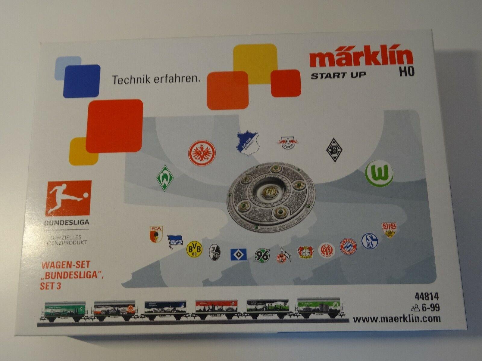 Märklin HO Artikel  48814 6-teil Wagenset  Bundesliga Set 3    - Neuware OVP