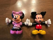 """MICKEY MOUSE MINNIE MOUSE STACKABLE HANDSTAND PVC FIGURES 2.5"""" (7)!"""