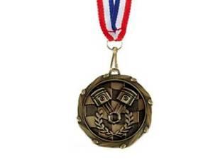 Motorsport Car Racing Karting Medal Award 50mm FREE Engraving /& Ribbon