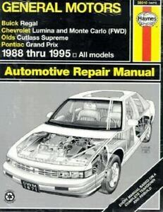 automobile repair manuals haynes buick regal chevrolet lumina rh ebay com 1984 Buick Regal 1978 Buick Regal