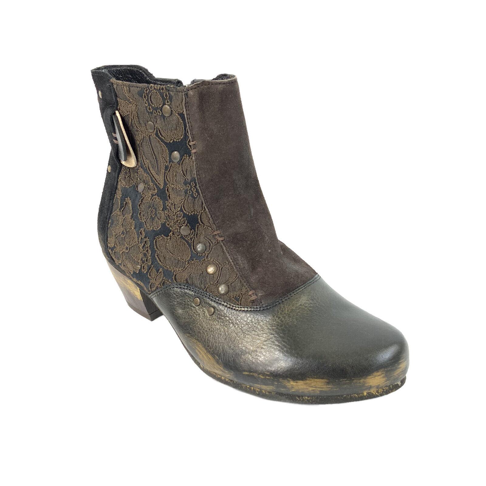 Maciejka Women's Size 37 Brown Leather Ankle Bootie