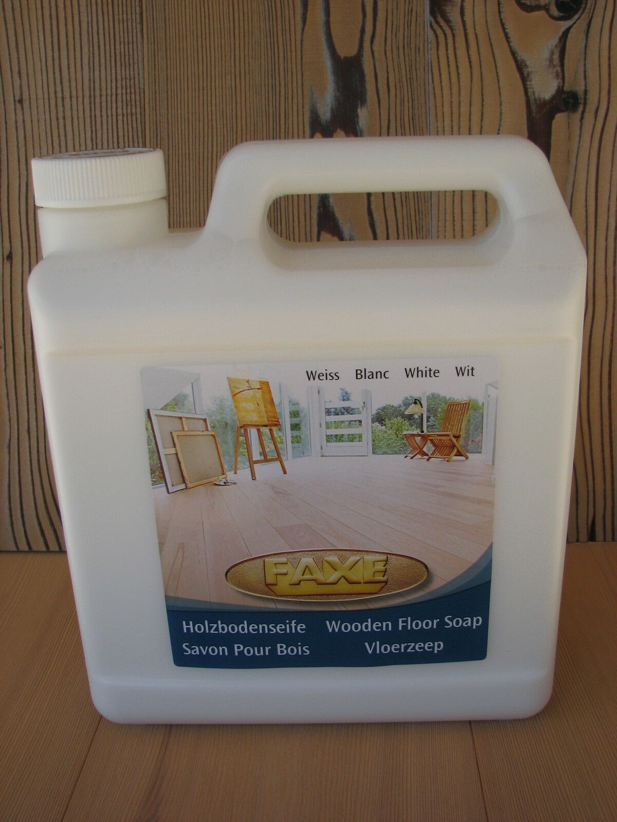 ( L) Faxe Holzbodenseife weiß 5 Liter