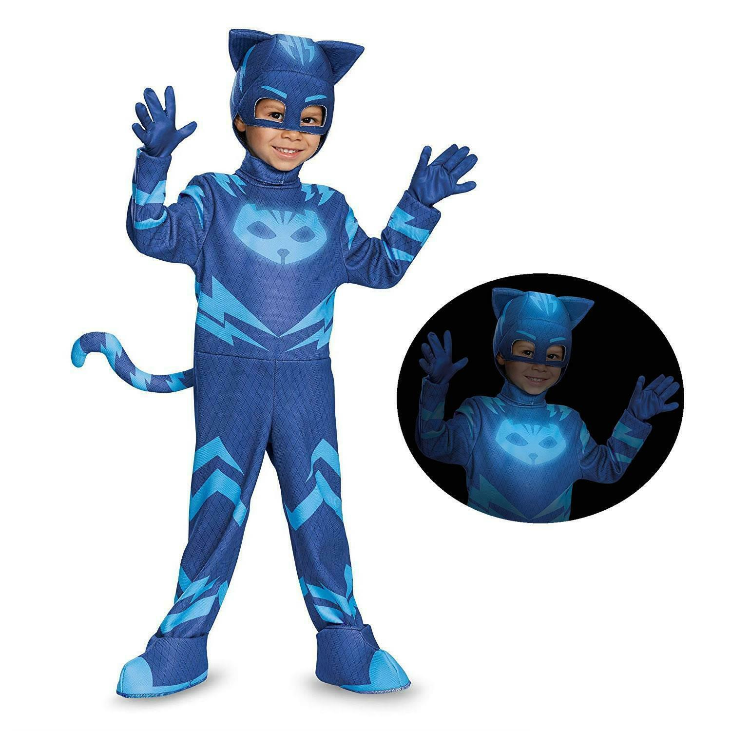 PJ Masks Catboy size S 2T Glow-in-Dark Deluxe Costume Disguise