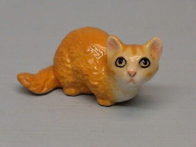 Retired Hagen Renaker Orange Fluffy Cat
