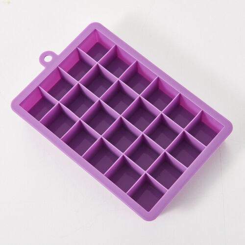 Silicone Square 15-Cavity Large Ice Cube Maker Mold Mould Tray Jelly Tool Black