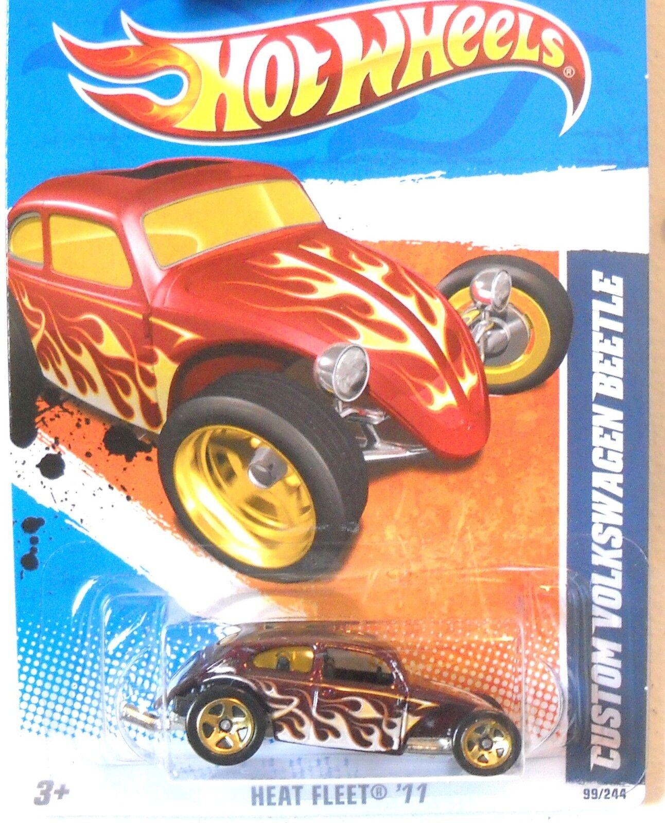 Hot Wheels 2011 CUSTOM VOLKSWAGEN BEETLE Heat Fleet /'11 9//10 99//244