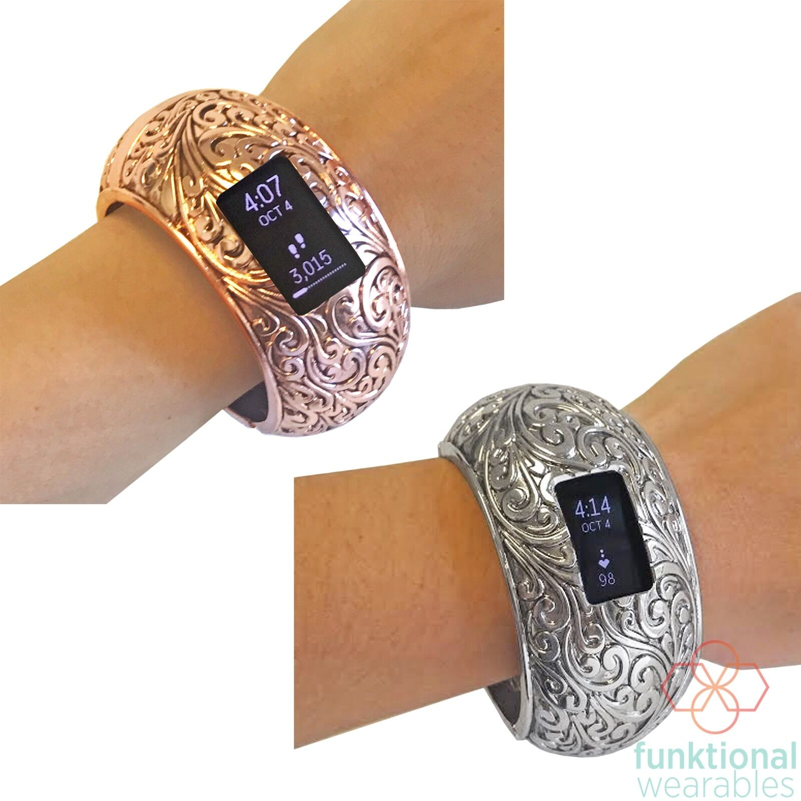 Fitbit Charge  Charge HR  or Charge 2 Bangle Bracelet from Funktional Wearables