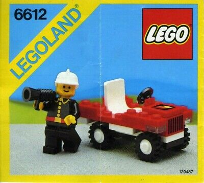 LEGO Town Fire Chief/'s Car 6611 Vintage