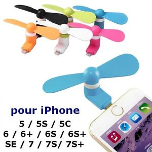 Mini Ventilateur Souple de Poche pour iPhone 5 5S 5C 6 6+ 6S SE 7 7+ Plus iPad