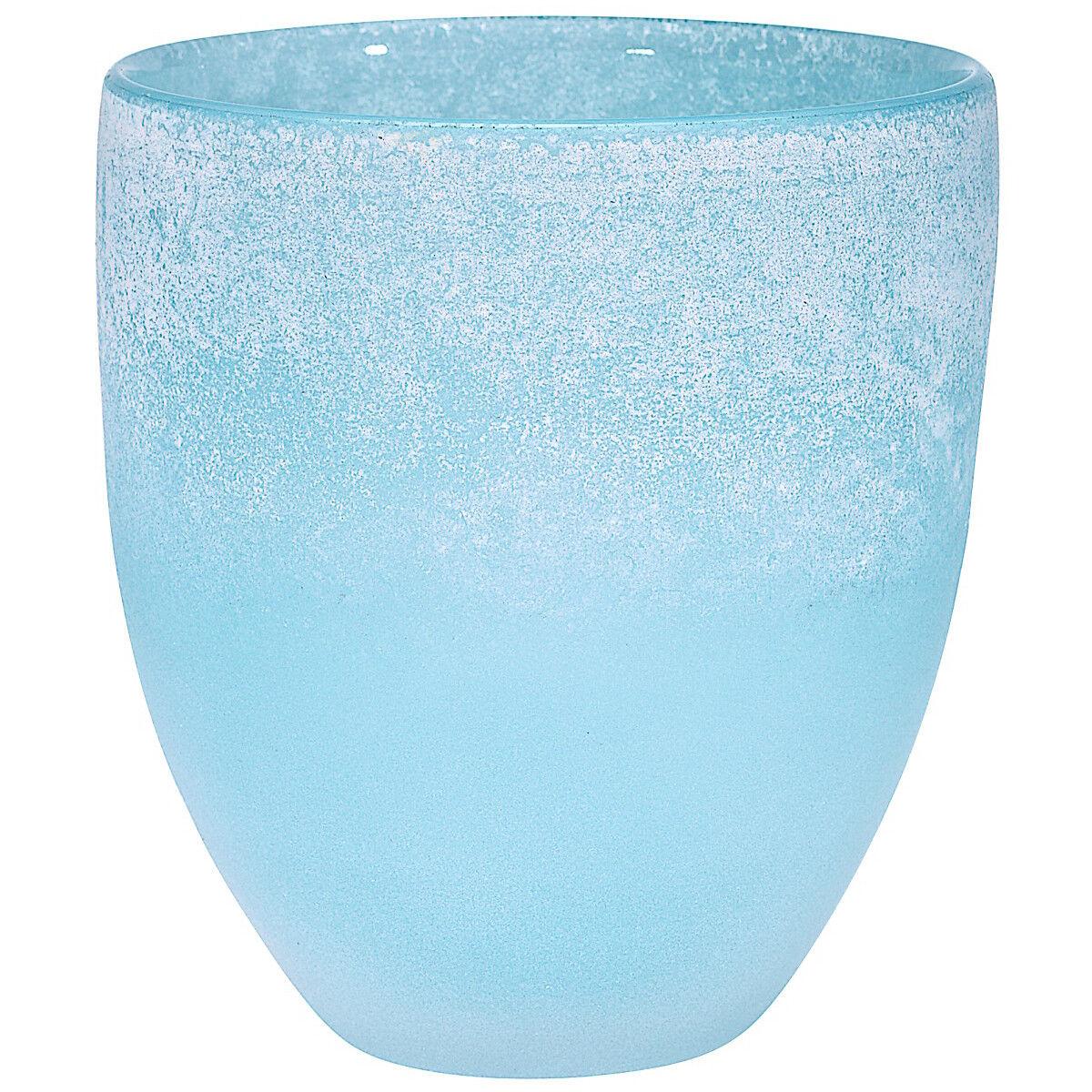 VASO Fiori Vaso Coloreei   blupat H = 16cm HANDMADE (Art Glass cristalica) gw02856