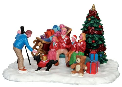 Festive Family Photo Lemax Christmas Village Table Accent