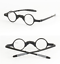 thumbnail 5 - Fashion-Retro-Black-Small-Round-Eyewear-TR90-Optical-Reading-Glasses-with-Case
