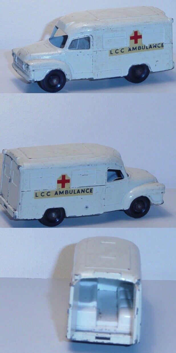 Más asequible Matchbox 14 Bedford lomas Ambulance, blancoo, cruz cruz cruz roja + LCC Ambulance  Centro comercial profesional integrado en línea.