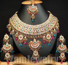 Lassie Indian Kundan Fabulous Celebrated Jodha Akbar Jewelry Necklace Set E8