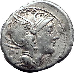 Roman-Republic-111BC-Rome-Ancient-Silver-Coin-GREEK-WAR-CHARIOT-Victory-i63486
