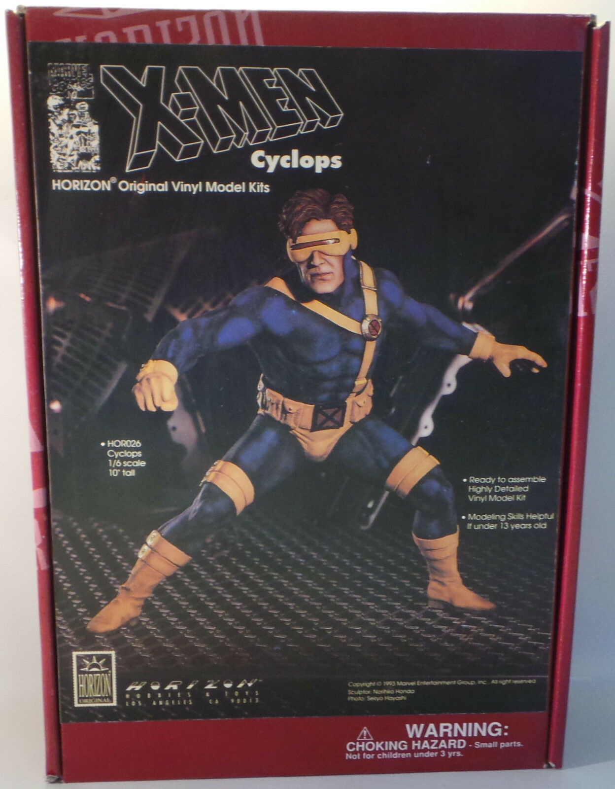 THE X-MEN   1 6 SCALE CYCLOPS VINYL MODEL KIT MADE BY HORIZON IN 1993.