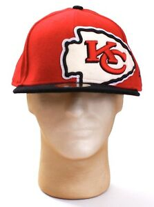 New Era 59Fifty NFL Kansas City Chiefs Red   Black Fitted Hat Cap ... 2f46f835302