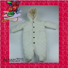 Polo Ralph Lauren Baby Girl's Boys Quilted Snow Suit Bunting Size 9 months White