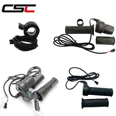 Twist Throttle For Electric Bike 24//36//48//60//72V Half-Bar Ebike Accessories