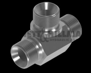 "BSP Male Tee for Bonded Seal Adaptors 1//2/"" x 1//2/"" x 1//2/"""