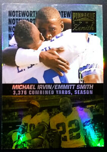 MICHAEL-IRVIN-EMMITT-SMITH-1996-Pinnacle-Zenith-Noteworthy-5-of-18