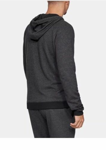 Under Armour Project Rock Size S M L All Day Double Knit Full Zip Hoodie Black