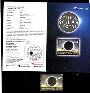 CHILE-2019-SPACE-ASTRONOMY-SUN-ECLIPSE-CHILE-ARGENTINA-BROCHURE-MNH-MNH