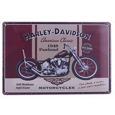 VINTAGE RETRO METAL SIGN OLD HARLEY DAVIDSON MOTORCYCLES 20X30CM