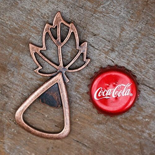 Gold Leaves Wedding Favors for Fall Autumn Leaf Bottle Openers Copper