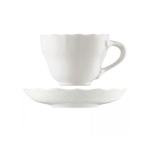 Tassen und Untertassen Weiß 340ml 6 Hutschenreuther Maria Theresia Cappuccino
