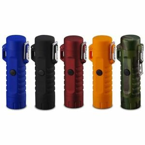 Dual-Arc-Electric-USB-Lighter-Waterproof-Rechargeable-Outdoor-Flashlight-Gift