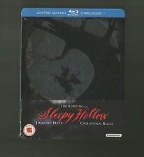 SLEEPY HOLLOW - UK EXCLUSIVE BLU RAY STEELBOOK - NEW & SEALED