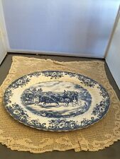 Johnson Brothers COACHING SCENES BLUE Oval Serving Platter England