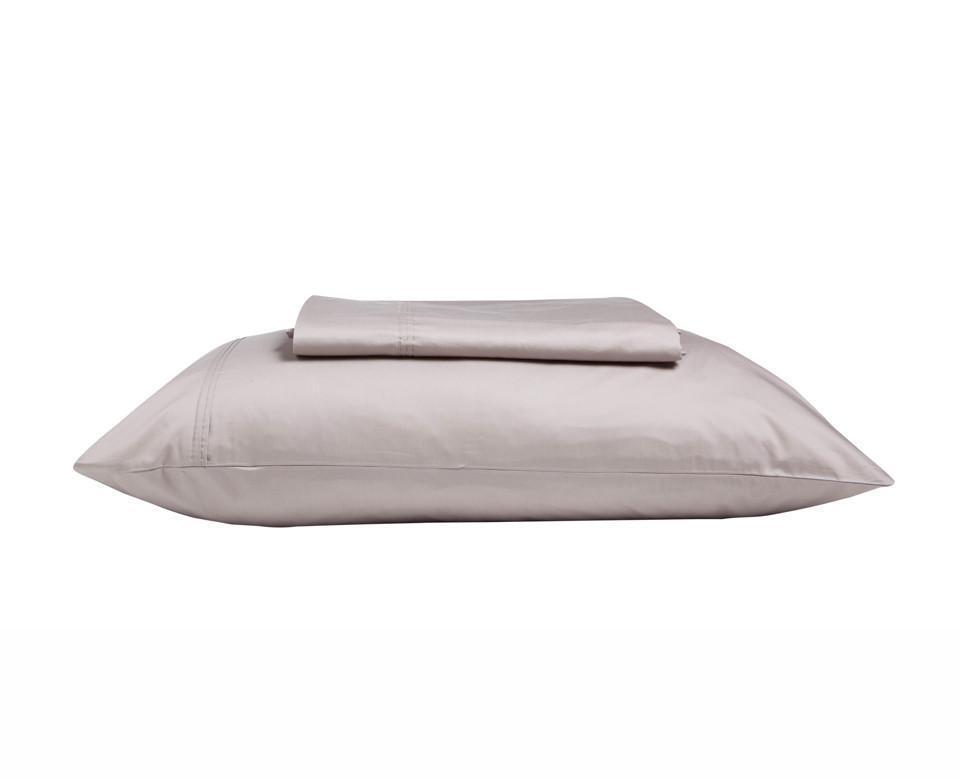 KAS 500TC 100% Egyptian Cotton Sateen Sheet Set King & Queen Bed Größe in Mocha