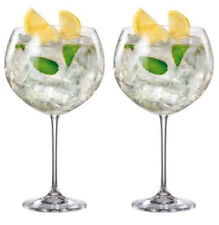 2x  BOHEMIA CRYSTAL GIN AND TONIC COCKTAIL balloon GLASS 850ml ENEBRO RRP £24.99