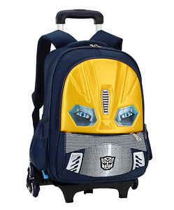fcf0953e6192 Details about Useful Boy s 6 Wheels Removable Rolling Trolley Backpack  Wheeled Bag School Bags