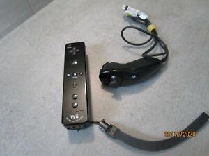 Manette officielle noire Wii / Nintendo /  avec Nunchuk