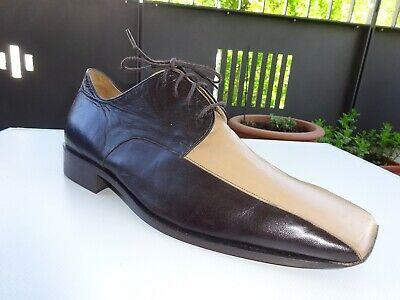 GEOX RESPIRA TEX Herren Business Schuhe Leder Braun Gr.45 f