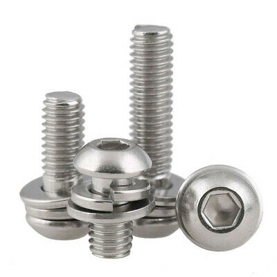 Spring/&Flat Washer A2 Stainless M4//M5 Pan Head Combination Machine Screws