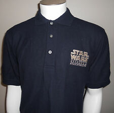 Star Wars Episode II Attack of the Clones Movie Promo Polo Shirt Small Flawed