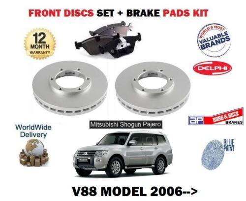 DISC PADS KIT FOR MITSUBISHI SHOGUN V88 3.2 DID 2006-/>NEW FRONT BRAKE DISCS SET