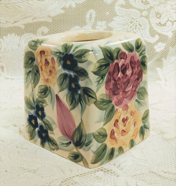 Vintage School Bus Kleenex Tissue Dispenser Box Cover Holder w// Photo Frames