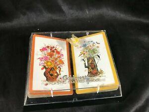 Vintage Goldcrest Flower Pot double Deck Bridge Playing Cards